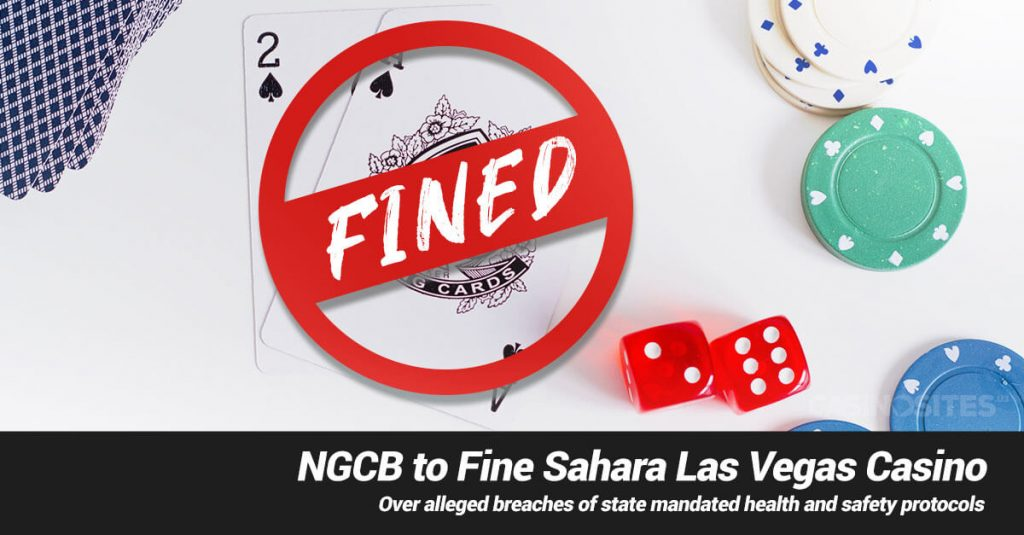 NGCB to Fine Sahara Las Vegas