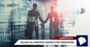 William Hill Approves Caesars $3.7bn Takeover Bid by Caesars