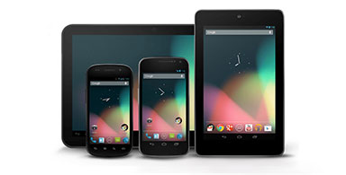 Android phone and tablet.