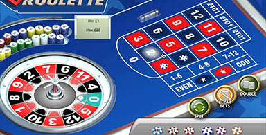 Mini roulette layout and gameplay.