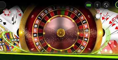 Header of a roulette casino.