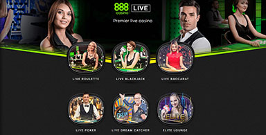 Images of 888 live dealers.