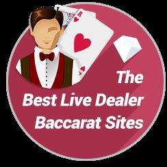 Best Real Money Live Dealer Baccarat Badge