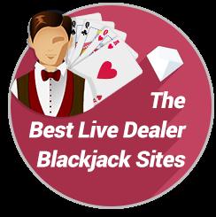 Best Real Money Live Dealer Blackjack Badge