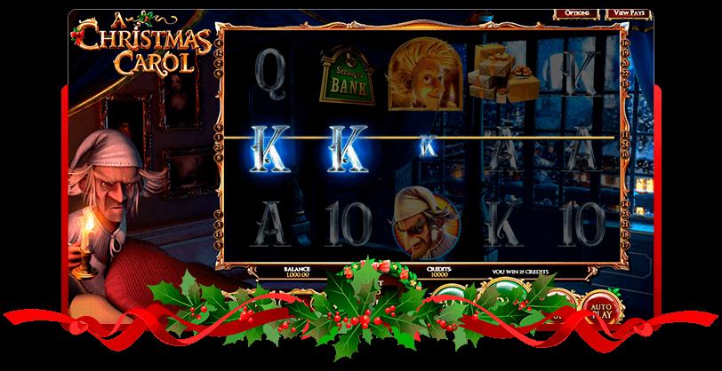 A Christmas Carol Slots Betsoft screen