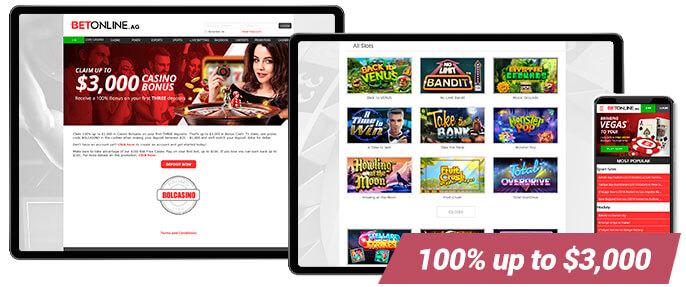 BetOnline Best Casino Screens