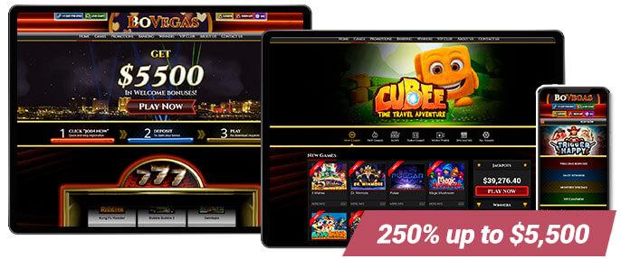 Best Online Casino BoVegas Casino Screens