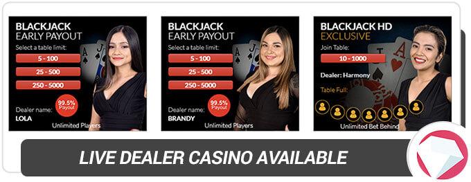 BetOnline Casino Live Dealer Casino