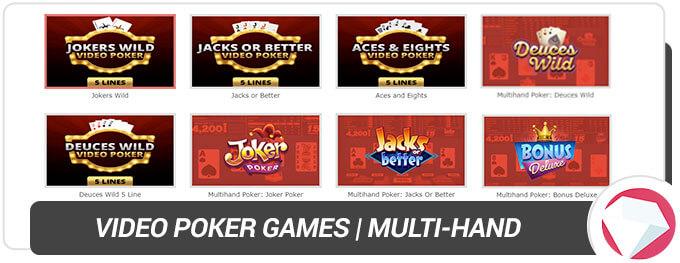 BetOnline Casino Video Poker multi-hand games
