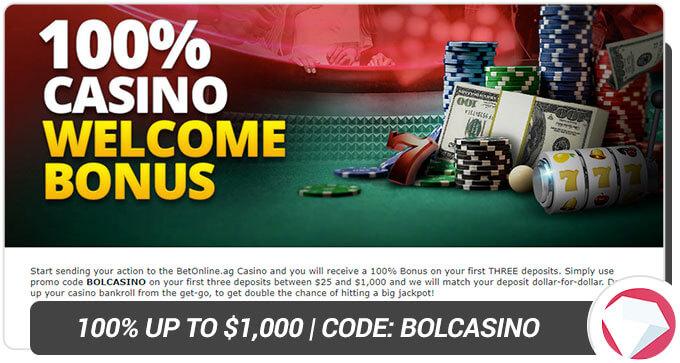 BetOnline Casino Welcome Bonus
