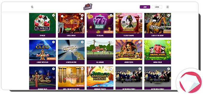 Cafe Casino slots games