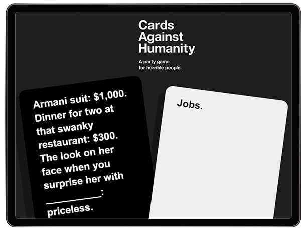 cards against humanity party game adults