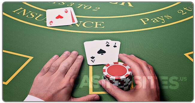 Image of a professional blackjack player at table
