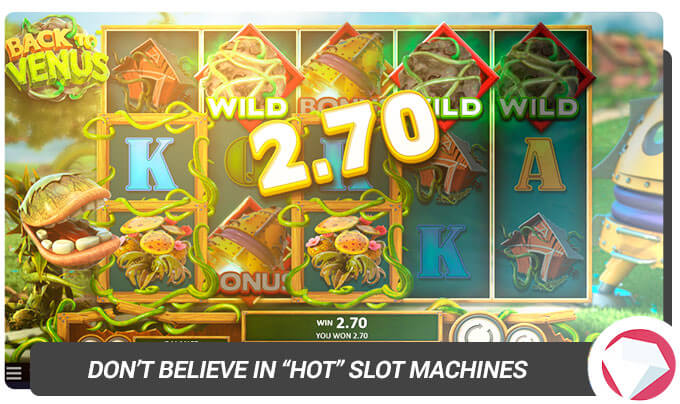 Dont believe in hot slot machines