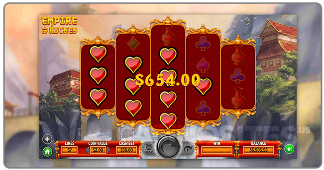 Image Dragon Gaming Slots Game Empire of Riches Win