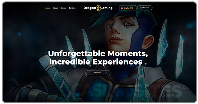 Image of DragonGaming Website
