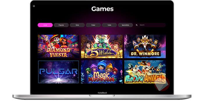 slots game selection at El Royale Casino
