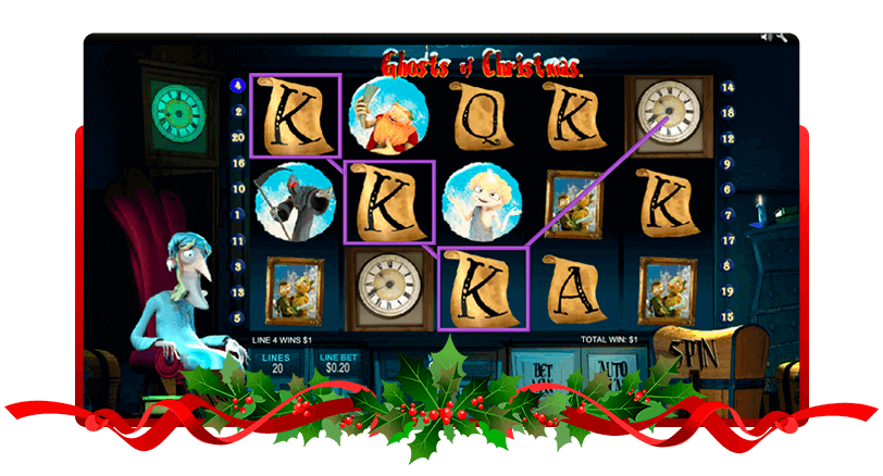 Ghosts of Christmas Slots Screen