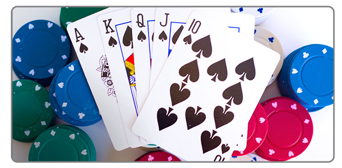 Image of cards and casino chips