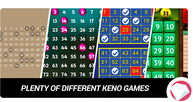 Different types of keno games