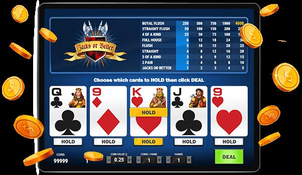 Jacks or Better Video Poker Game