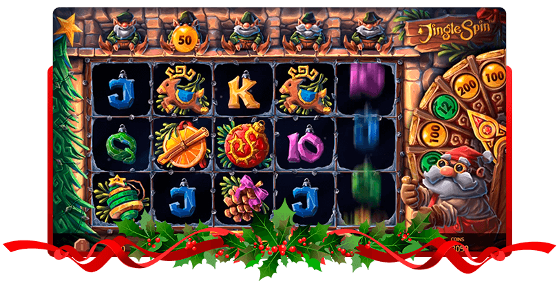 Jingle Spin Slots NetEnt Screen
