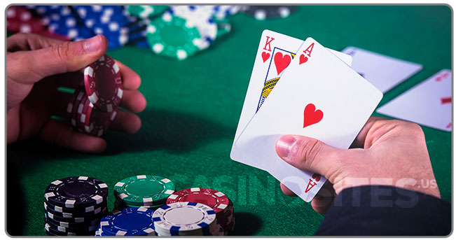Image of a Blackjack player with cards