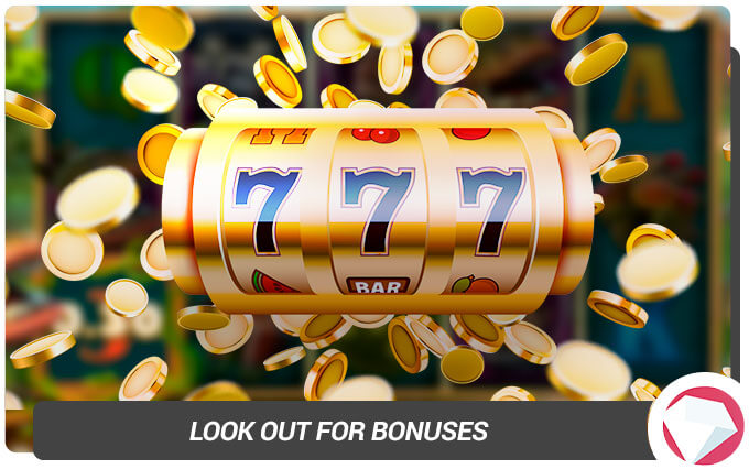 Look out for Bonuses on Slot Machines