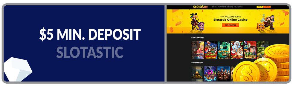 Image of Minimum Deposit Casino Slotastic