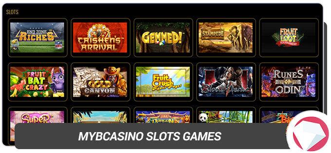 MYB Casino Slots games