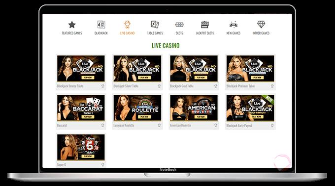 MyBookie Casino Live Dealer Casino