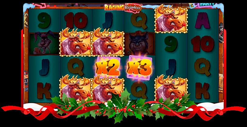 Raging Reindeer Slots iSoftBet Screen
