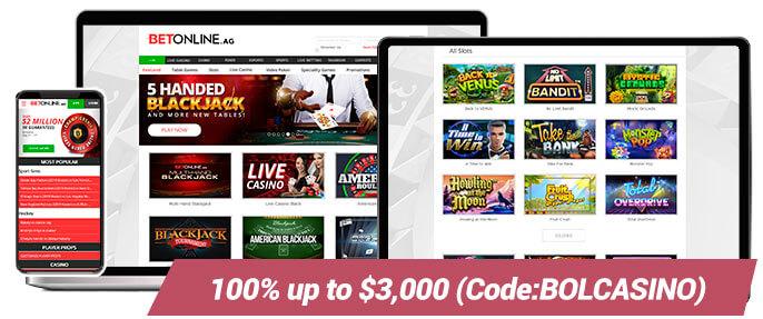 Real Money Casinos BetOnline Casino