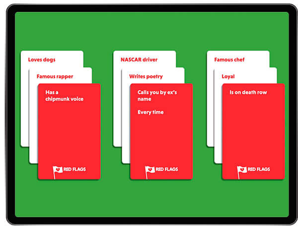Red Flags Adult Card Game