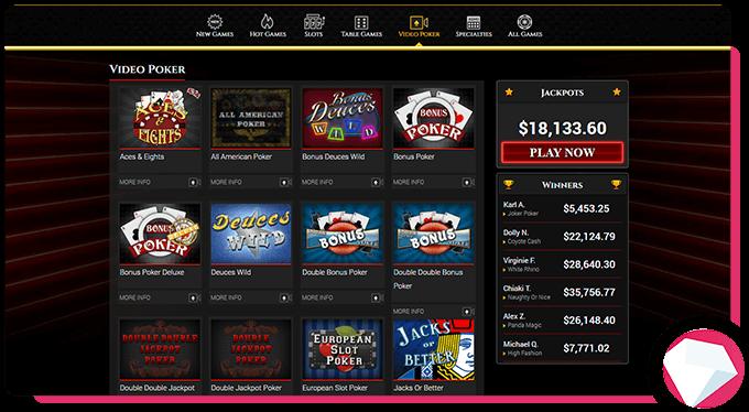 BoVegas Review Video Poker