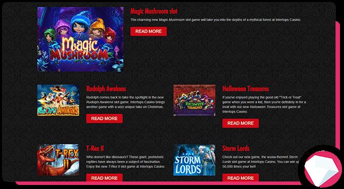 Intertops Casino Slot Games