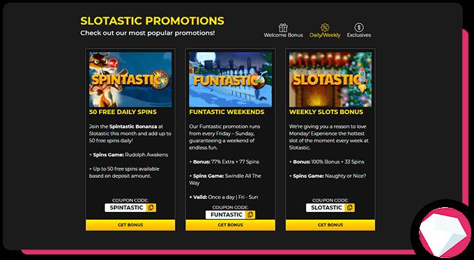 Slotastic Promotions