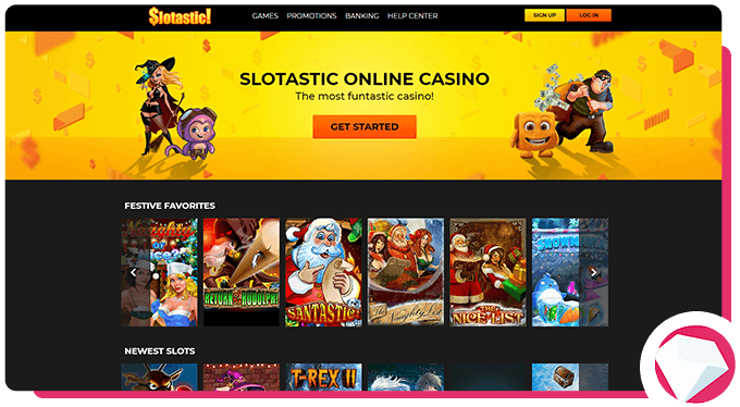 Slotastic Welcome Screen