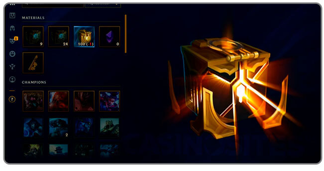 Image of Hextech chest opening in League of Legends