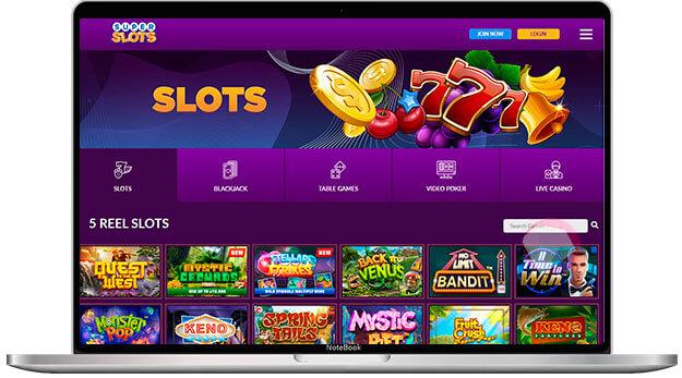 Slot game selection at superslots