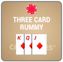 Three Card Rummy Casino Poker Icon