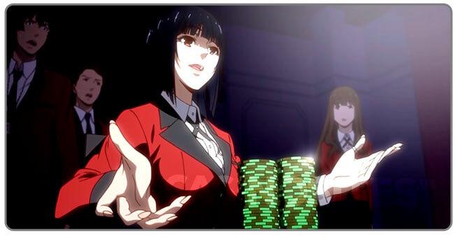 Image of Kakegurui - compulsive gambler with poker chips
