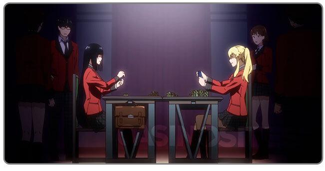 Image of Kakegurui - compulsive gambler at poker table