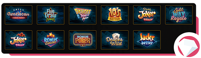 Wild Casion Video Poker Selection