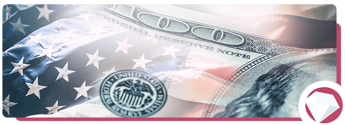 Wire Transfer American Flag and Dollar Bill