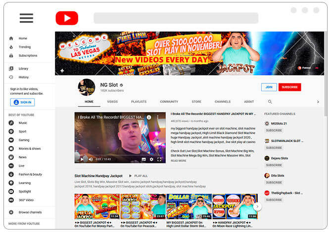 Image of NG Slots Youtube Channel