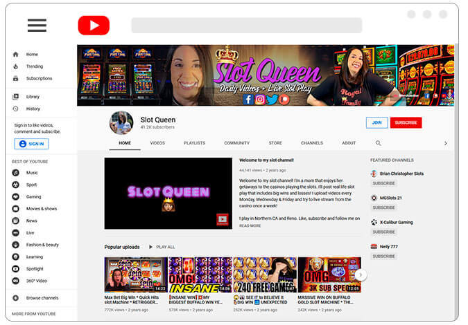 Image of Slots Queen Youtube